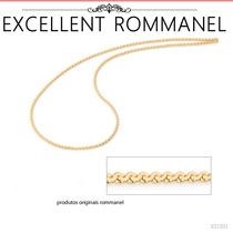 Corrente Diamantada S 0,5mm Espessura 50cm F. Ouro Rommanel