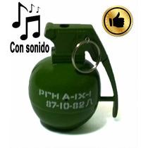 Encendedor Granada Recargable Con Sonido Real Gas Butano