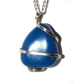 Joyeria Artesanal Hermoso Dije De Cuarzo Azul 22pza