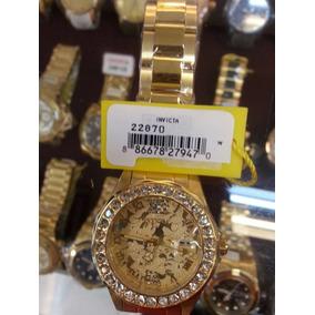 Relógio Invicta Angel Disney Feminino 22870 Banho Ouro18k