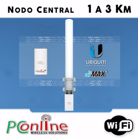 Nodo Central Wisp 1 A 3 Km Ubiquiti De 40 A 50 Usuarios Wifi