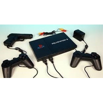 Video Game Polystation 2 + 2 Controles + 1 Pistola + Jogos