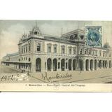 Pu12 Postal Estacion Central Ferrocarril Montevideo C1905