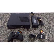 Xbox 360 Slim Travado + Controle + Cabos