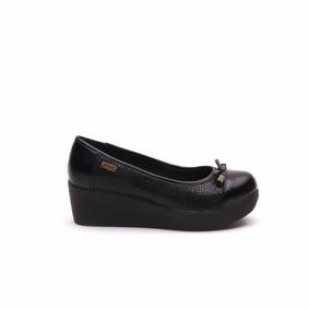 Lady Stork Maite - Zapato Mujer Plataforma Cuero Iguanita