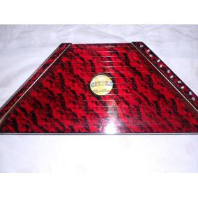 Cítara Mini Harpa Vermelha Nova Na Caixa Acompanha Partitura