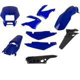 Carenagem Bros 125 Azul 2003/2004 C/p. Corrente Kit Completo