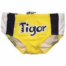 Sunga Infantil Tigor T. Tigre Amarela E Preta Tamanho 8
