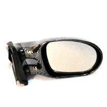 Espejo Universal Acabado Tipo Fibra De Carbono Doble Brazo