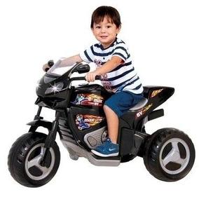 Triciclo Moto Elétrica Max Turbo 1430l Preta 6v - Magic Toys