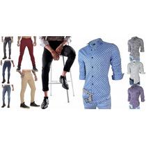 Envio Gratis!! - Chupin Jean/gabardina + Camisa Premium