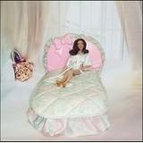 Raro ! Cama Da Boneca Barbie Laços E Rosas * Estrela Anos 80