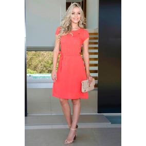 Vestido Laranja Moda Evangélica Primavera/verão 2017