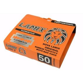 Lâmina Barbear Platinum Lamix 01 Ct = 50 Unidades De Lamina