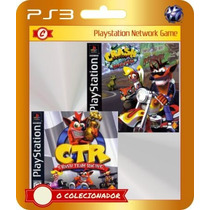 Crash Bandicoot 3 + Crash Team Racing (código Id Ps3)