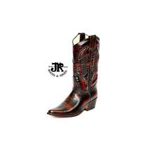 Botas Texanas - Jr Boots & Shoes - Art. 6050 Clarosc Bordó