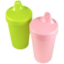 Set De 2 Sippy Cups - Niña - Hechos De Materiales Reciclados