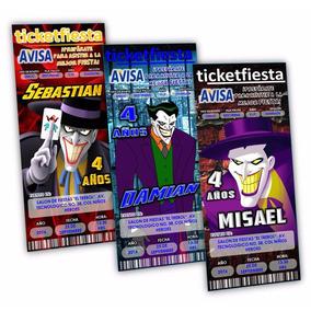 50 Invitaciones Impresas Guason Joker ¡en Oferta!