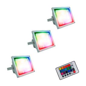 Reflector Led Luminaria Led 50 Watts Rgb X 3 Promocion