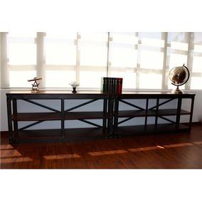 mueble de madera y herreria para tv en michoacán en mercado libre ... - Muebles De Herreria Para Tv