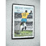 Placa Decorativa 28x19cm* Pelé 1.000 Gols * Img Selo Comemor