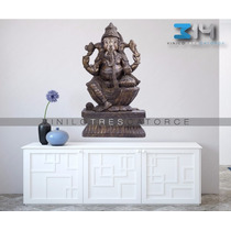 Vinilo Decorativo Oriental Ganesha 07. Calcomania De Pared