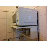 Mueble Aereo Microondas En Mdf De 18mmblaco O Marron46x36x20