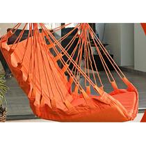 Cadeira Balanço Crochê Laranja Cadeira Area Balança Croche