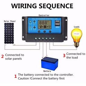 Controlador Carga Solar 10a 12v 24v Digital Lcd Usb
