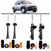 4 Amortecedores Kit Batente Ford Ka 97 98 99 2000 2001 2002