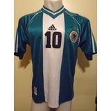 Camiseta Alemania Mundial Francia 1998 Hassler #10 Selección
