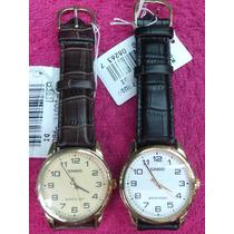 Reloj Casio Hombre Cuero Mtp V001 Originales.. No Copias!!!