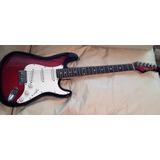 Guitarra Texas Stratocaster Roja Impecable Permuto