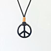 Colar Cordão Feminino Símbolo Da Paz