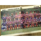 Poster Campeao Baiano Bahia 86 - Frete R$ 7
