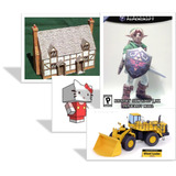 Kit Imprimible Papel Digital Figuras 3d Armables