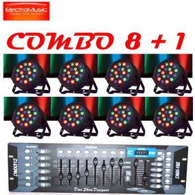 Big Dipper Combo 8 Tachos Led Lp005 + Consola Dmx E-lighting