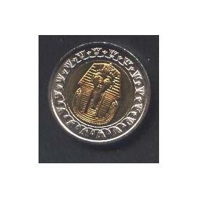 Egipto 1 Pound,bimetalica Sin Circular