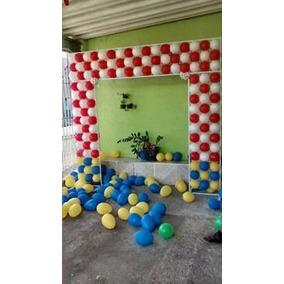 Suporte Painél Banner 134 Balões Aniversário Bexigas Balões