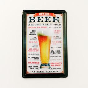 Adorno De Pared Morph Chapa Beer Cerveza