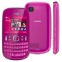 Carcaça Completa Celular Nokia Asha 200 Rosa