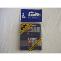 2 Audio Cassette Scotch Bx 90 Minutos Normal Bias
