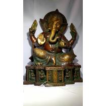Ganesh Figura Bronce Solido