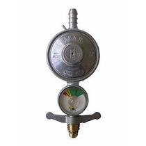 Registro Regulador Válvula Gás Botijão Manômetro Inmetro