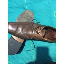 Zapatos De Cuero Color Café, Con Suela