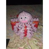 Pulpito Risueño Violeta Amigurumi Crochet