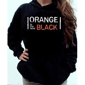 Blusa Orange Is The New Black Canguru Com Capuz