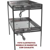 Marmiteiro Eletrico Para 50 Marmitas 110 Ou 220 Volts Inox