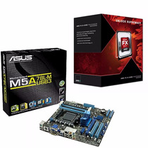 Combo Mother Am3 Asus M5a78l-m Usb3 Am3+ Micro Fx 8300