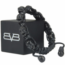 Bomberg Skully Bracelet Swarovski Full Black Ne M9 Diego Vez